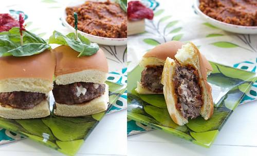 Mushroom Meatball Parmigiana Sliders