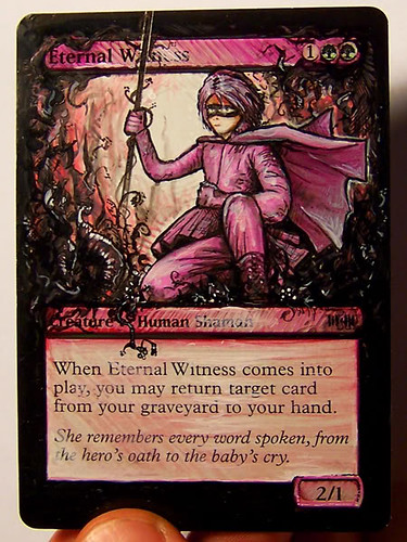 Eternal Witness Altered Art Magic the gathering mtg card art altered mtg card artwork Bigup Eternal Witness mtg altered art Eternal Witness magic