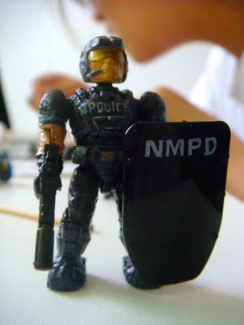 NMPD Police with riot shield! 9089781609_49897199de_z