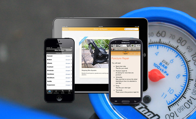 Bike doc promo image showing it on different devices