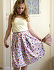Maiko Print Cotton Retro Skirt