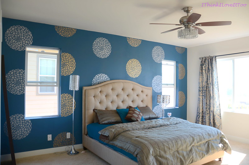 The Art of Stenciling – DIY | I Think I It Too Master Bedroom Decorating Ideas Lime Green Html on