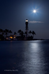 Hillsboro Inlet Full Moon and Lighthouse
