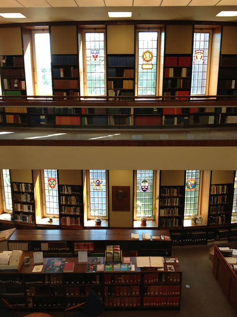 Second floor of the Osler Library of the History of Medicine