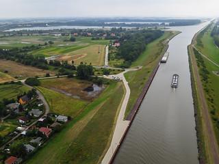 Kite Above the Magdeburg Water Bridge