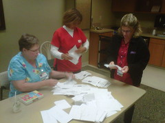RNs counting votes at Mercy General, Sacramento