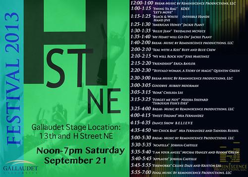GallaudetHStreetFestivalStageSchedule2013