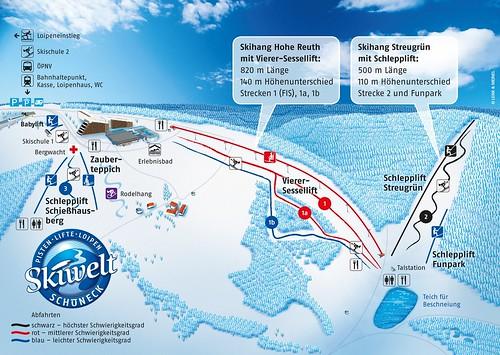 Schöneck - mapa sjezdovek