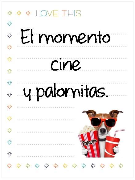 5. cine y palomitas