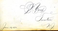 1880s Ollie's autograph album - Yard, Trenton, NJ 32of51