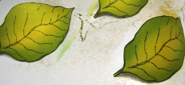 Sponged Poinsettia - step 5
