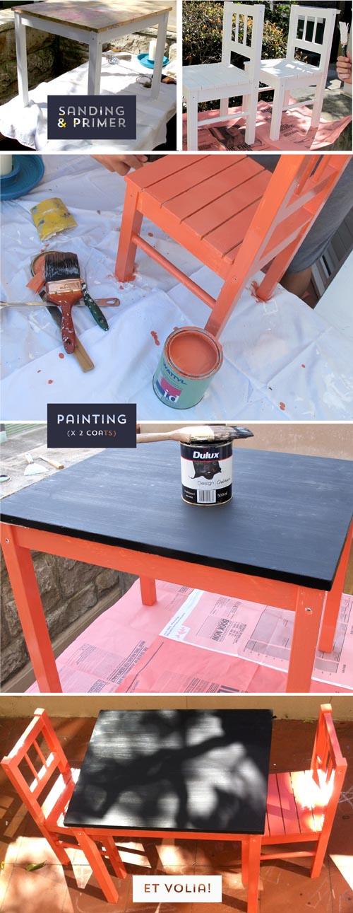Children's table DIY2