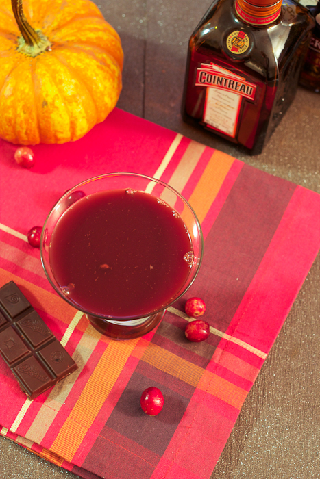 Spiced Rum Dark Chocolate Hazelnut Cranberry Martini