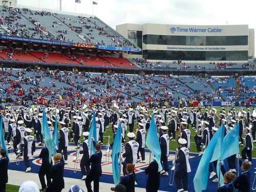Penn State marching band at Buffalo Bills game