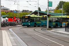 Connexxion buses at Hobbemastraat in Amsterdam
