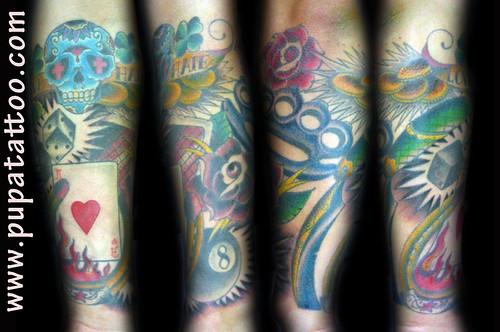 Tatuaje tradicional Pupa Tattoo, Granada by Marzia PUPA Tattoo