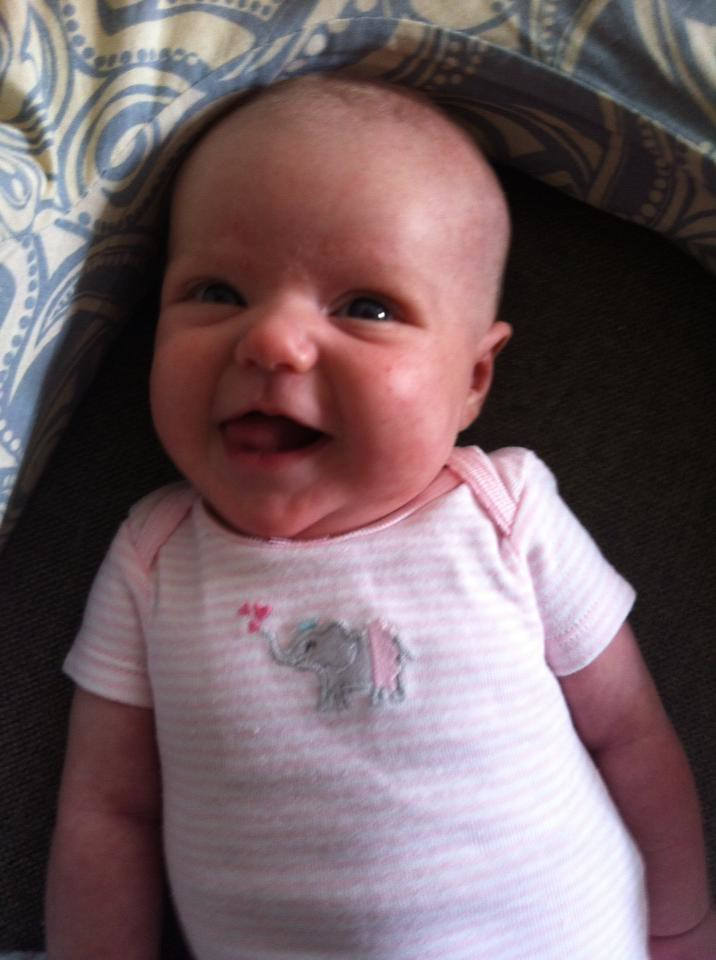 Juliet smiling