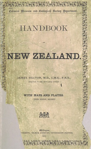 Image taken from:  Title: Handbook of New Zealand...