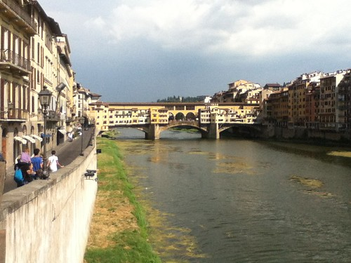 The Ponte Vecchio bridge in Florence, Tuscany