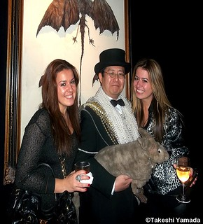 Seara (sea rabbit) and Dr. Takeshi Yamada attended the opening reception of their art exhibition at Pop Up Gallery in New York City on February 7, 2013. (A promotional event for the AMC new cable television series, IMMORTALIZED.)    218P==XZ