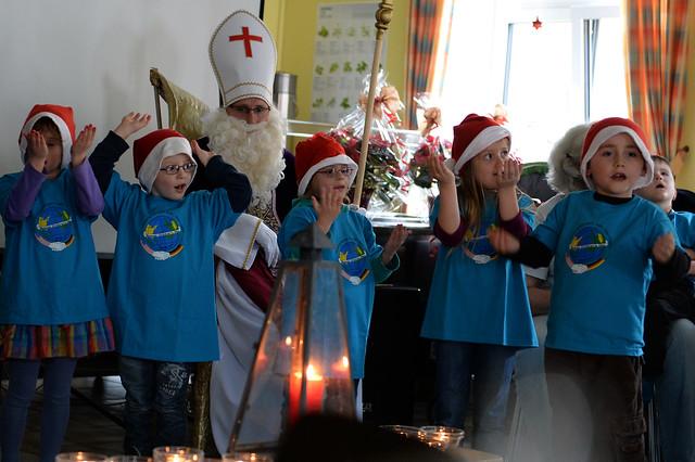 Sankt Nikolause visits St Martin's School
