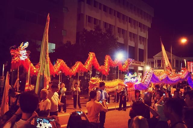 Pesta Chingay, Lion & Dragon Dance Parade 2013 at Penang Esplanade