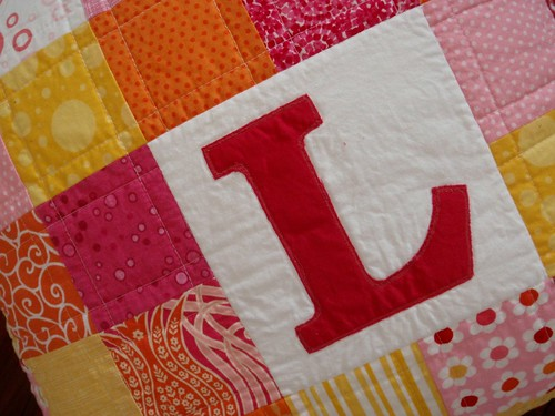 Personalised patchwork cushion #4