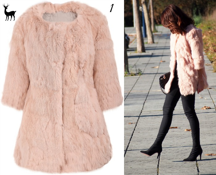 abrigo rosa pelo sheinside