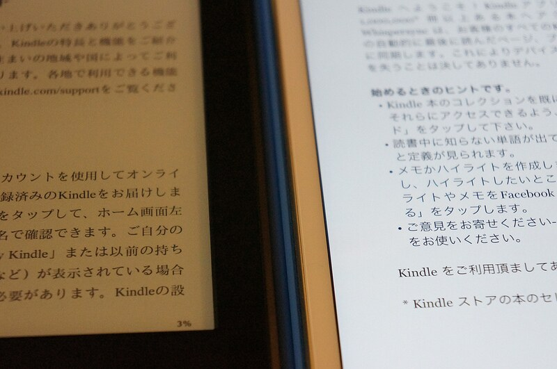 Kindle and iPad mini3