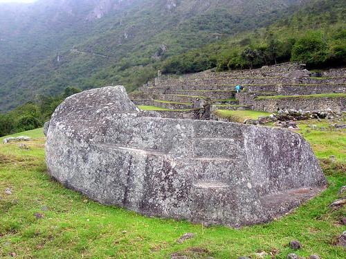 Human sacrifice altar Machu Picchu