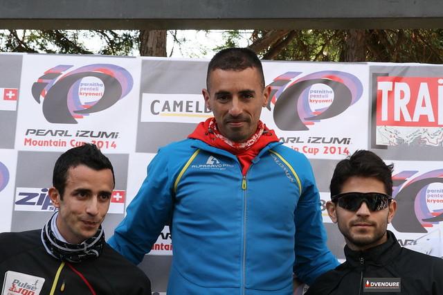 Από αριστερά: Διαλεκτός, Θεοδωρακάκος και Τασόπουλος, οι νικητές στο Κρυονέρι