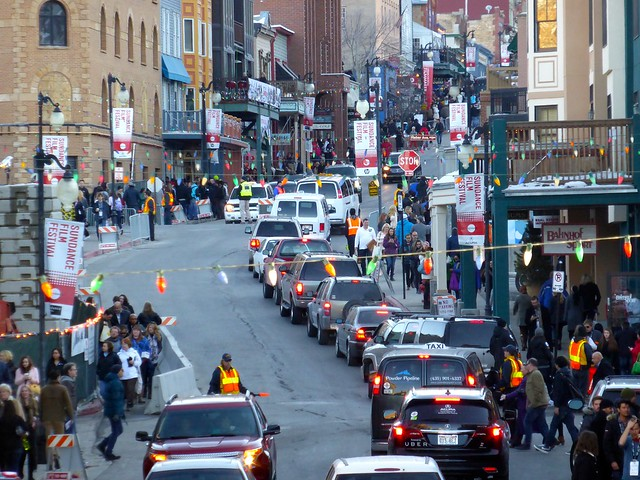 Park City during Sundance Film Festival (Traffic Jam, Day)