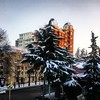 #view from my room at the #work #snow #sunset #Ganja #Azerbaijan #az #aztagram #GanjaCriminalCourt #Ataturk #avenue