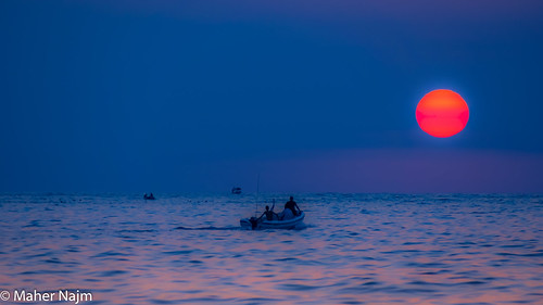 sunset sea sky lebanon sun landscape boat sony a77