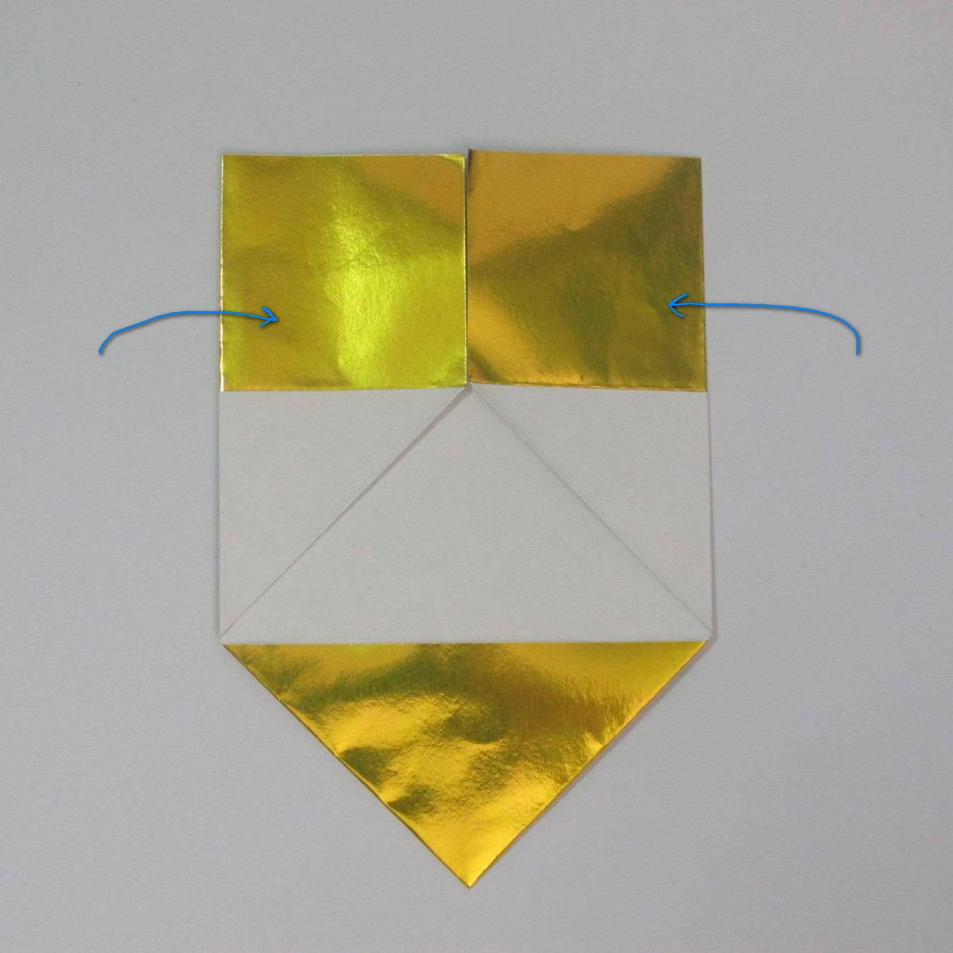 วิธีพับกระดาษเป็นรูปหัวใจติดปีก (Heart Wing Origami) 009