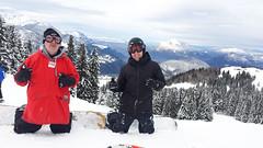 ski equipment(0.0), ski(0.0), skiing(0.0), ski touring(0.0), nordic skiing(0.0), snowshoe(1.0), winter sport(1.0), footwear(1.0), mountain(1.0), winter(1.0), snow(1.0), sports equipment(1.0), mountaineering(1.0), summit(1.0), mountain guide(1.0),