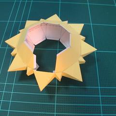 วิธีทำของเล่นโมเดลกระดาษรูปพระอาทิตย์ยิ้ม (Smiling Sun Paper Craft Model) 009