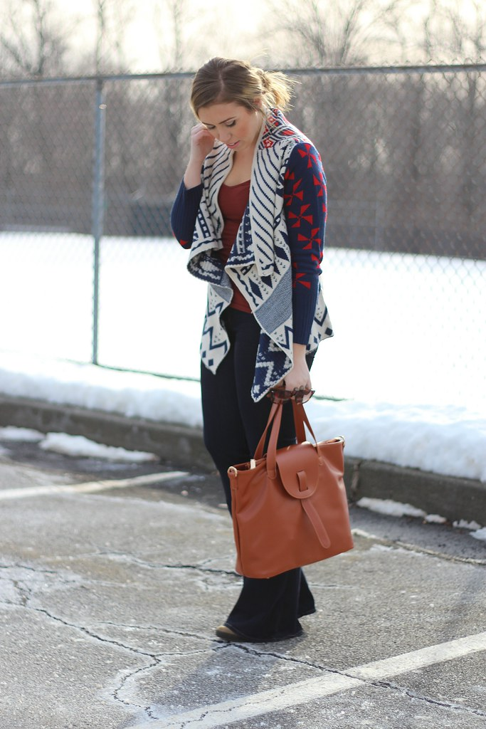 Prints Charming - Tribal Sweater & Flare Jeans on Living After Midnite