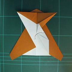วิธีการพับกระดาษเป็นรูปกบ (แบบโคลัมเบี้ยน) (Origami Frog) 025