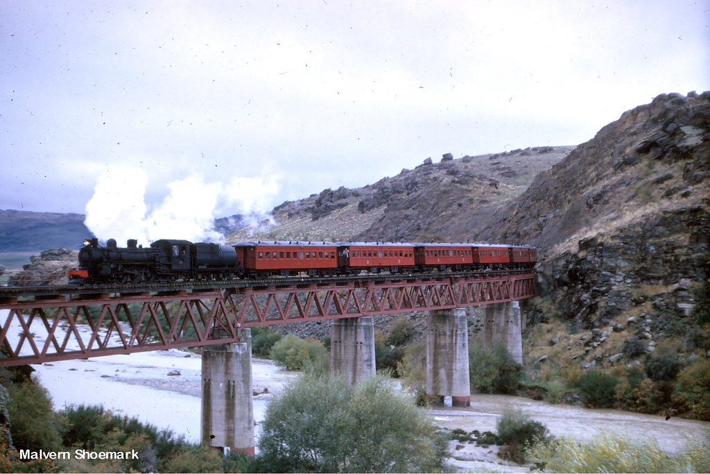 Ab795 Manuherikia no1 Viaduct 11 April 1968 from my friend Malvern