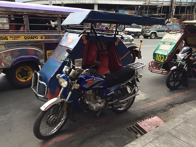 Sidecar motorcycle taxis