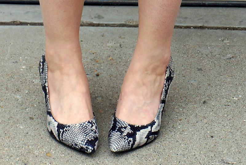 snakeskin Target heels pumps