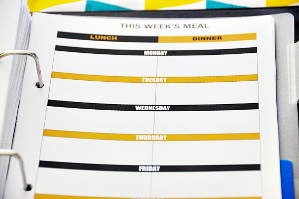 Free Printables on Meal Planning & Grocery List (A5 sized set on one A4 paper) | www.fussfreecooking.com