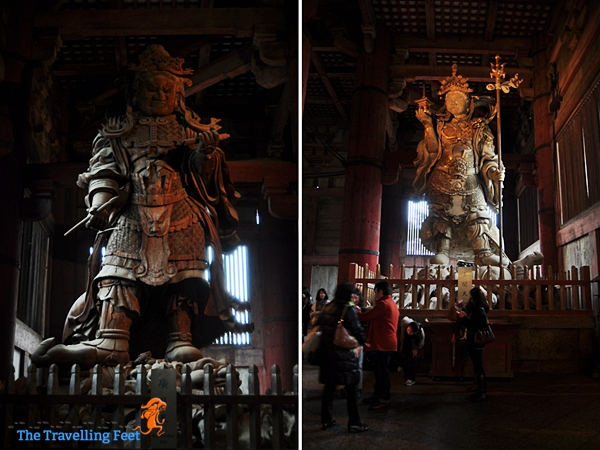huge statues at the Daibatsuden Hall