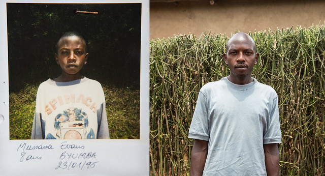 "Evans, Jean-Baptiste's younger brother, was eight years old in 1994. <br /> ""When I look at this picture of myself from this time, I see a child who was suffering a lot,"" he said. ""After this photo was taken, I suffered even more when I realised that my parents were gone. Little by little, my wounds healed, but my suffering is still with me.""<br /> Today he works in a butcher shop.<br /> ""Seeing this photo reminds me of how far I have come,"" he said. ""It makes me think about the path I've taken to get where I am today. There was a time in my life where I didn't know if I would live one day to the next, where I felt like I wasn't going to survive - but here I am.""<br /> Save the Children aims to have the archive stored digitally so that Rwandans can access it.<br /> ""For most of these people, this is literally the only documentation of their childhood that exists. They have never seen photographs of themselves as children,"" Colin Crowley, a photographer and film maker with Save the Children, said.<br /> ""This is a part of the country's history that they deserve to have."""