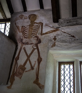 Figure of death, Llangar Church