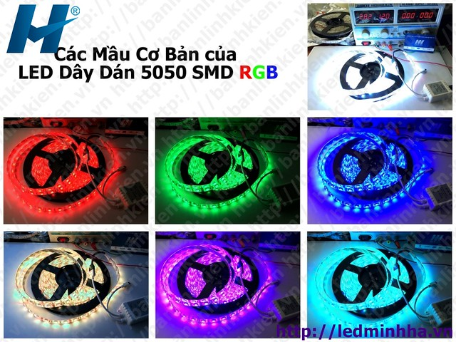 LED Dây Dán 5050 SMD ( 60Led/m ) RGB