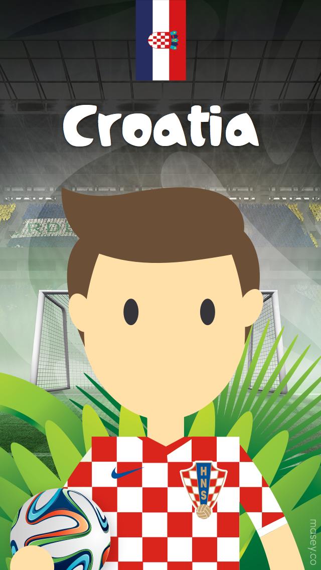 2014 Football World Cup Croatia iPhone Wallpaper