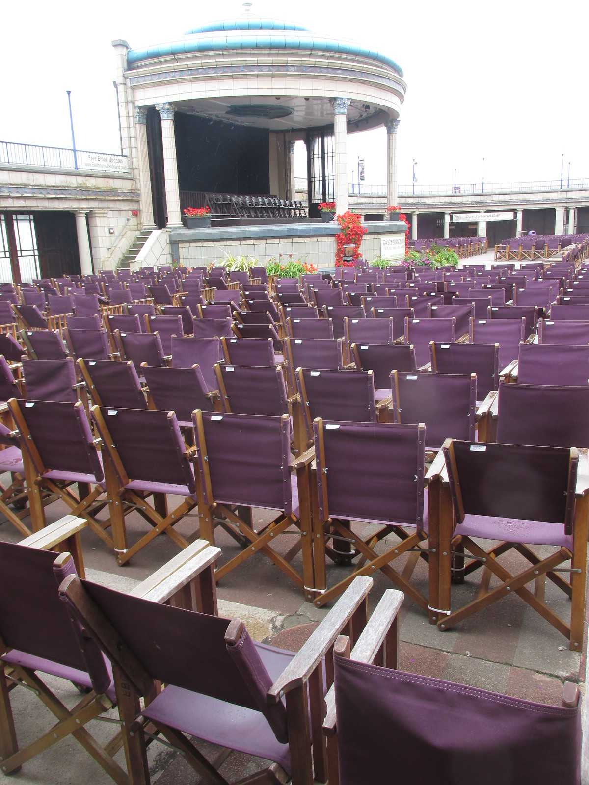 July 12, 2015: Eastbourne to East Dean Deserted Eastbourne bandstand