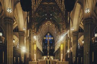 Image of St. Patrick's Cathedral. 2017 28mm fuji fujifilm fujilove fujix100t fujixseries manhattan mirrorless newyork nyc tintography vsco vscofilm wclx100 wideangel x100t stpatricks cathedral church